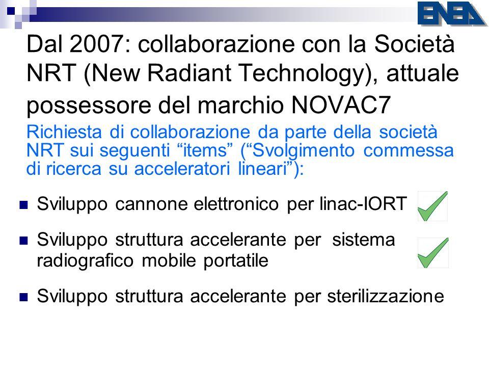 Dal 2007: collaborazione con la Società NRT (New Radiant Technology), attuale possessore del marchio NOVAC7 Richiesta di collaborazione da parte della