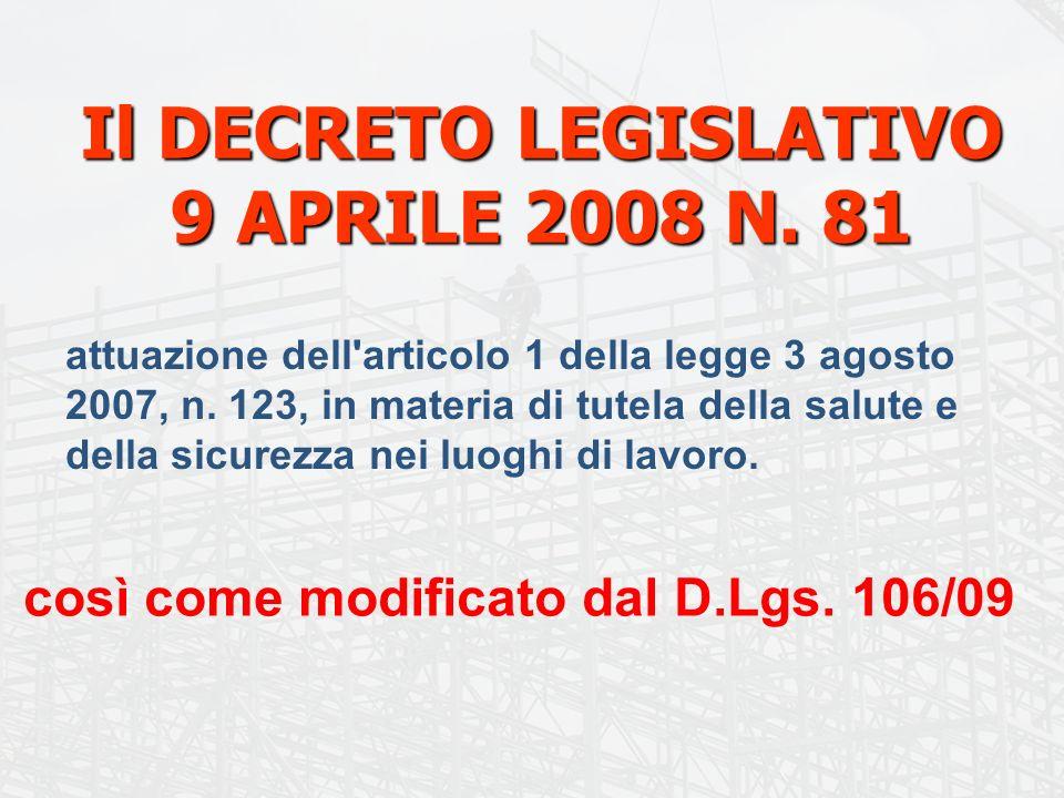 12 La storia del Titolo IV Capo I D.Lgs.81/08 D.Lgs.