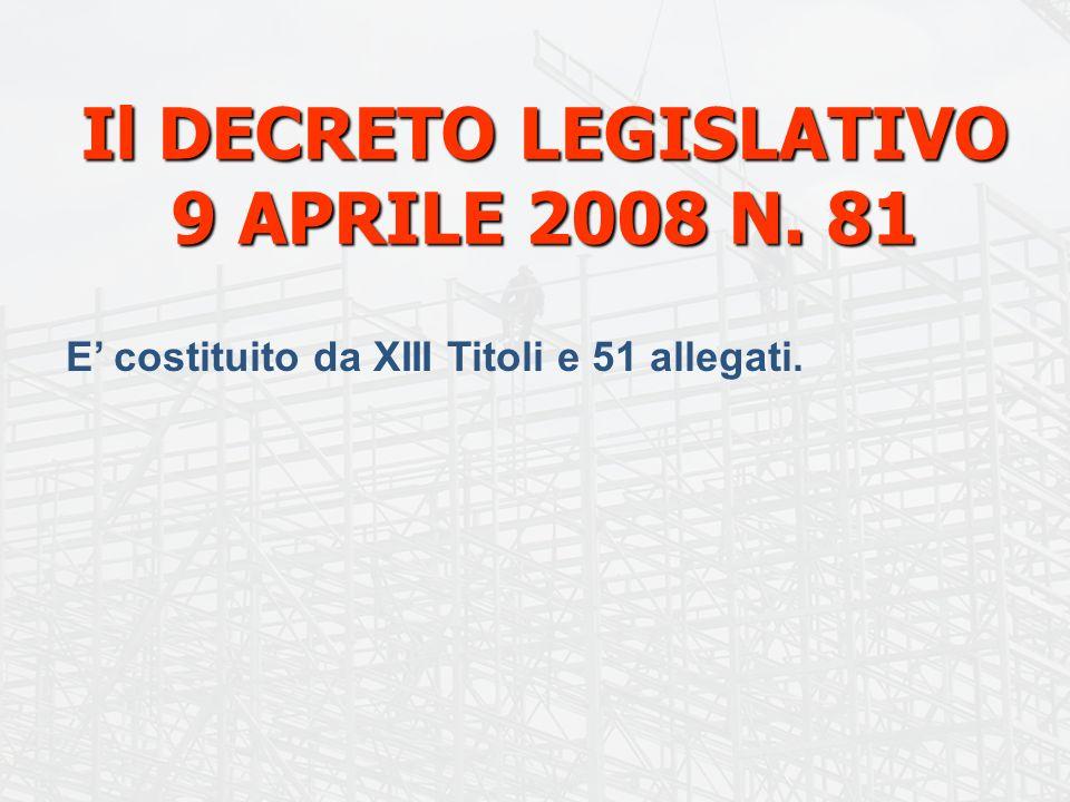 14 COMMITTENTI Il Capo I del titolo IV nel contesto del D.Lgs.