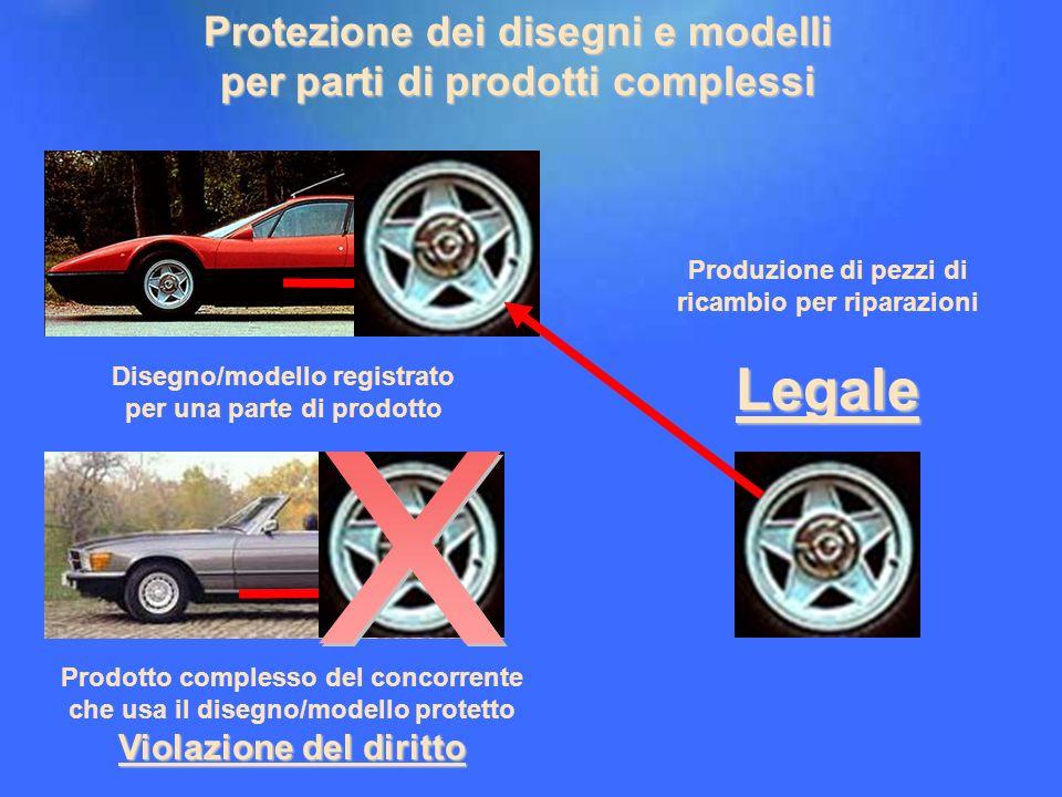 17 Disegno/modello registrato per una parte di prodotto Violazione del diritto Prodotto complesso del concorrente che usa il disegno/modello protetto