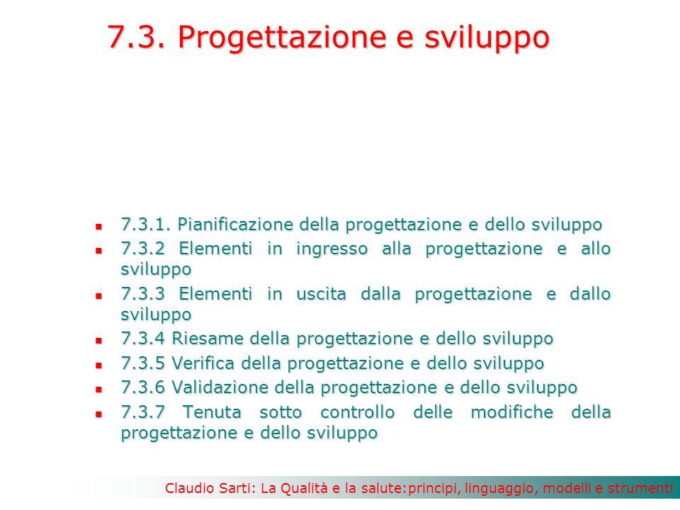 Claudio Sarti: La Qualità e la salute:principi, linguaggio, modelli e strumenti 7.3.