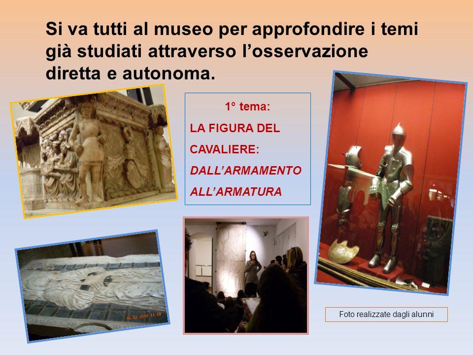 Si va tutti al museo per approfondire i temi già studiati attraverso losservazione diretta e autonoma. 1° tema: LA FIGURA DEL CAVALIERE: DALLARMAMENTO
