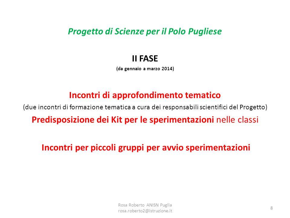 II FASE (da gennaio a marzo 2014) Incontri di approfondimento tematico (due incontri di formazione tematica a cura dei responsabili scientifici del Pr
