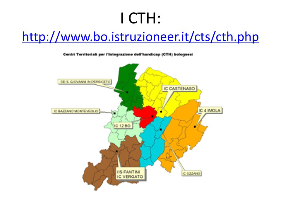 I CTH: http://www.bo.istruzioneer.it/cts/cth.php http://www.bo.istruzioneer.it/cts/cth.php