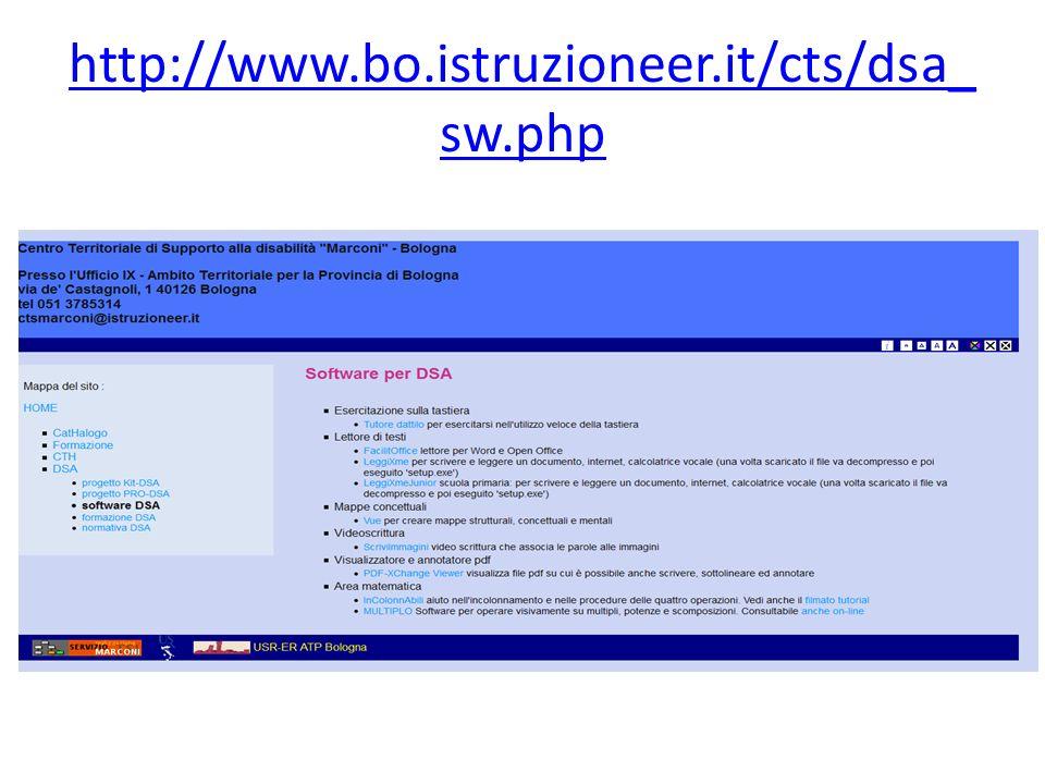 http://www.bo.istruzioneer.it/cts/dsa_ sw.php
