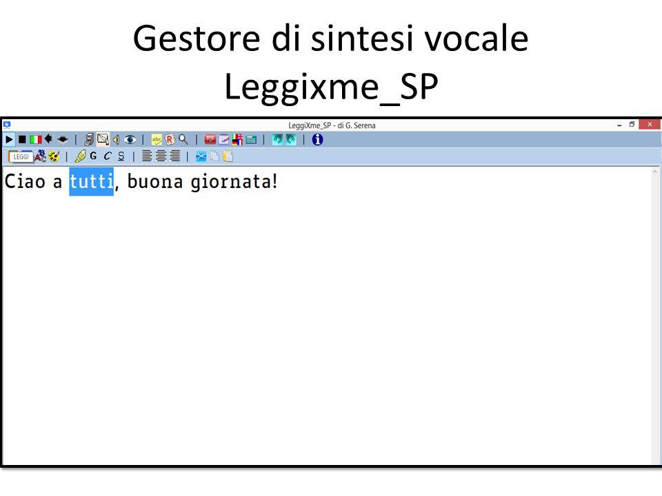Gestore di sintesi vocale Leggixme_SP