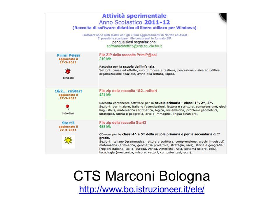 CTS Marconi Bologna http://www.bo.istruzioneer.it/ele/ http://www.bo.istruzioneer.it/ele/