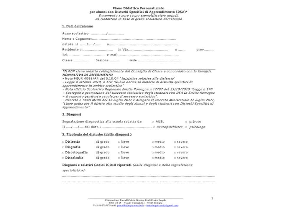 LEGGE 170/2010 Articoli sugli strumenti compensativi Lart.
