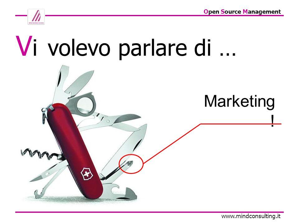 Open Source Management www.mindconsulting.it Q UINDI, ALCUNE DOMANDE SONO: Hai il database clienti.
