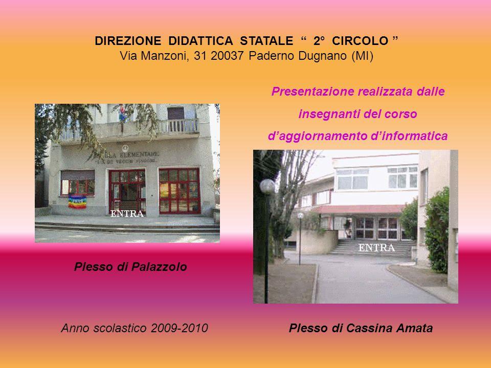 DIREZIONE DIDATTICA STATALE 2° CIRCOLO Via Manzoni, 31 20037 Paderno Dugnano (MI) Presentazione realizzata dalle insegnanti del corso daggiornamento d
