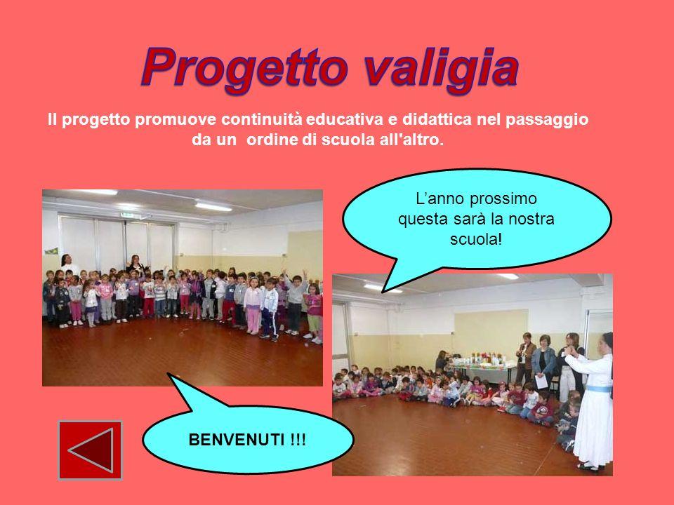 Il progetto promuove continuità educativa e didattica nel passaggio da un ordine di scuola all'altro. Lanno prossimo questa sarà la nostra scuola! BEN