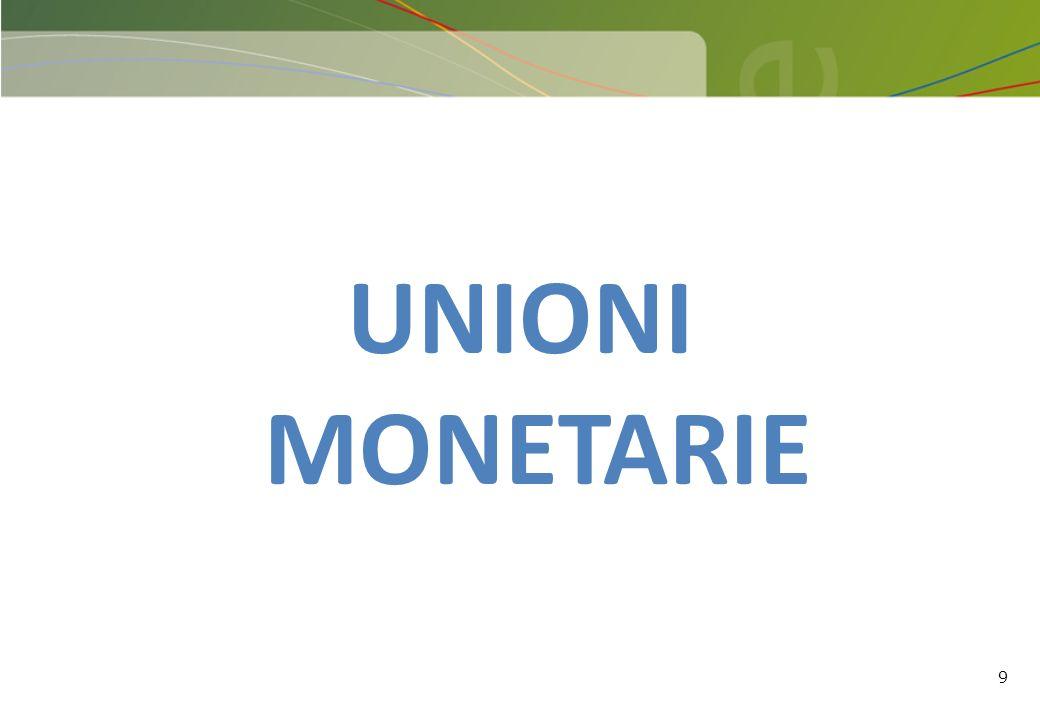 9 UNIONI MONETARIE
