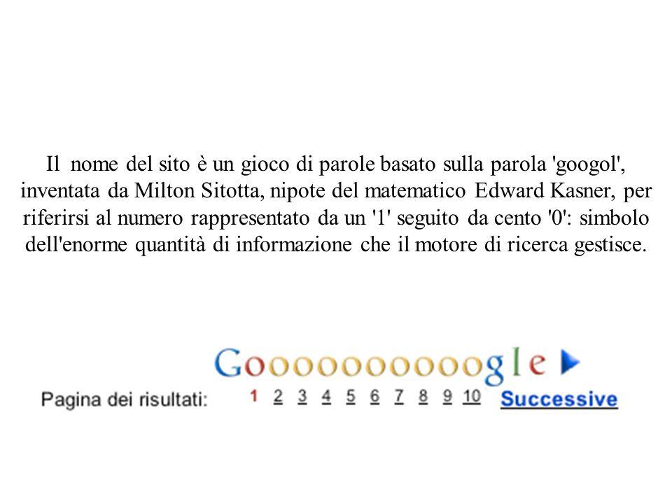 Il nome del sito è un gioco di parole basato sulla parola 'googol', inventata da Milton Sitotta, nipote del matematico Edward Kasner, per riferirsi al