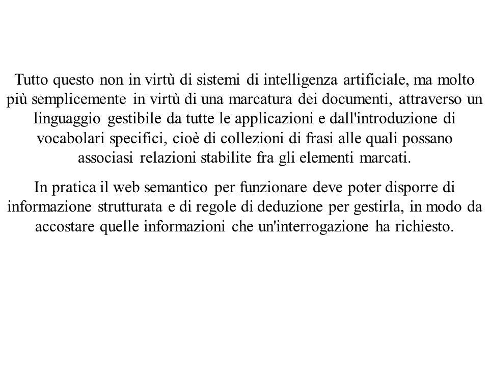 Tutto questo non in virtù di sistemi di intelligenza artificiale, ma molto più semplicemente in virtù di una marcatura dei documenti, attraverso un li