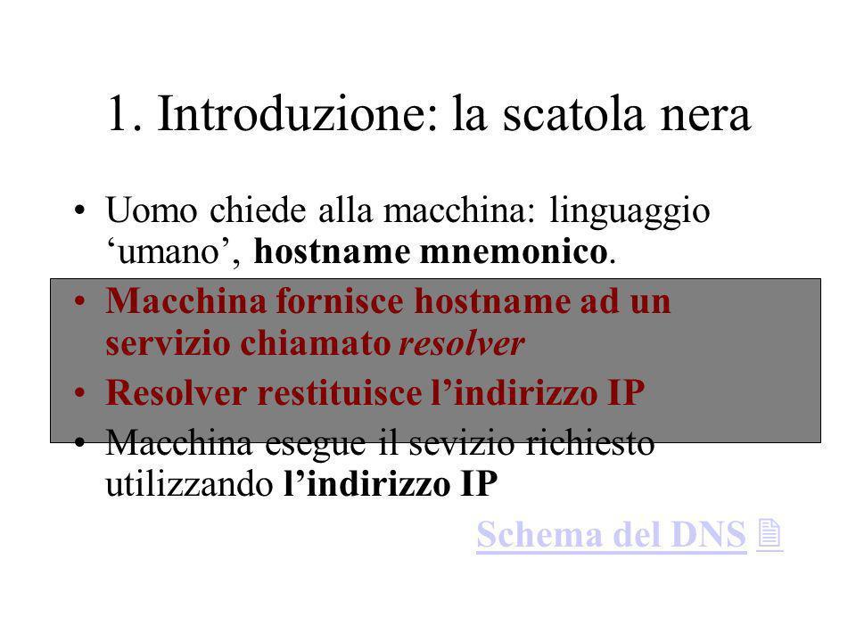 2. La configurazione del DNS 2.2. La configurazione del nameserver