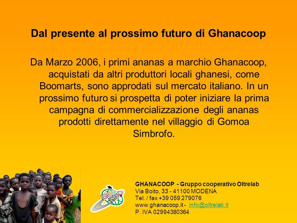GHANACOOP - Gruppo cooperativo Oltrelab Via Boito, 33 - 41100 MODENA Tel. / fax +39 059 279076 www.ghanacoop.it - info@oltrelab.it P. IVA 02994380364i