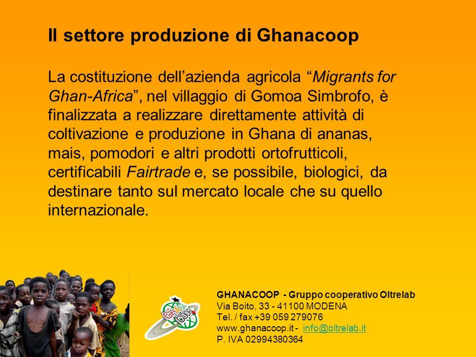 GHANACOOP - Gruppo cooperativo Oltrelab Via Boito, 33 - 41100 MODENA Tel.