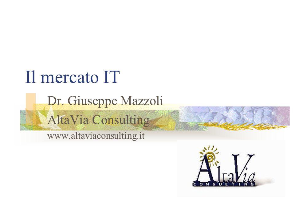 Il mercato IT Dr. Giuseppe Mazzoli AltaVia Consulting www.altaviaconsulting.it