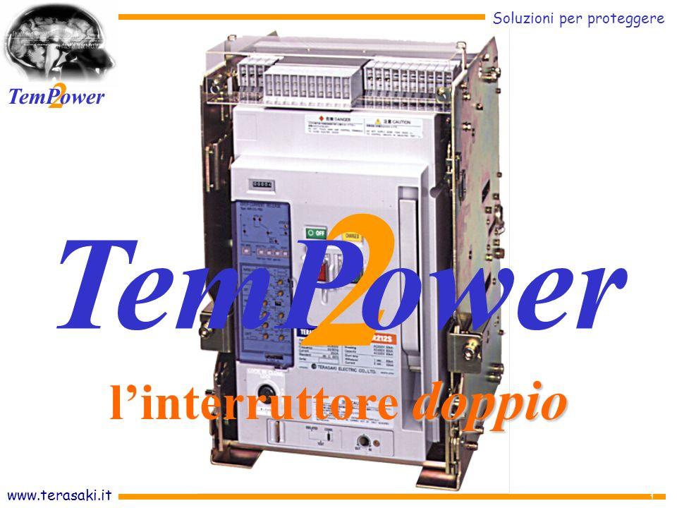 www.terasaki.it Soluzioni per proteggere 2 TemPower 32 Centralizzazione delle misure e dei controlli ON/OFF remoto Sono visualizzati tutti i valori di guasto e di diagnosi Due grandi display per una comoda lettura Pannello operativo APR consapevoli di PROTEGGERE