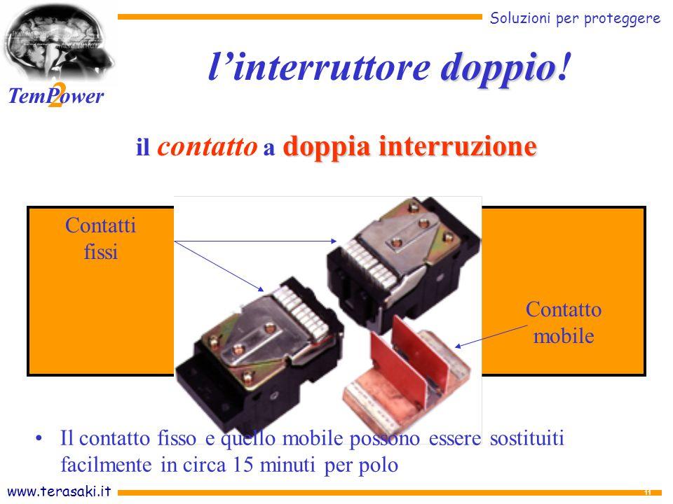www.terasaki.it Soluzioni per proteggere 2 TemPower 11 doppia interruzione il contatto a doppia interruzione doppio linterruttore doppio.