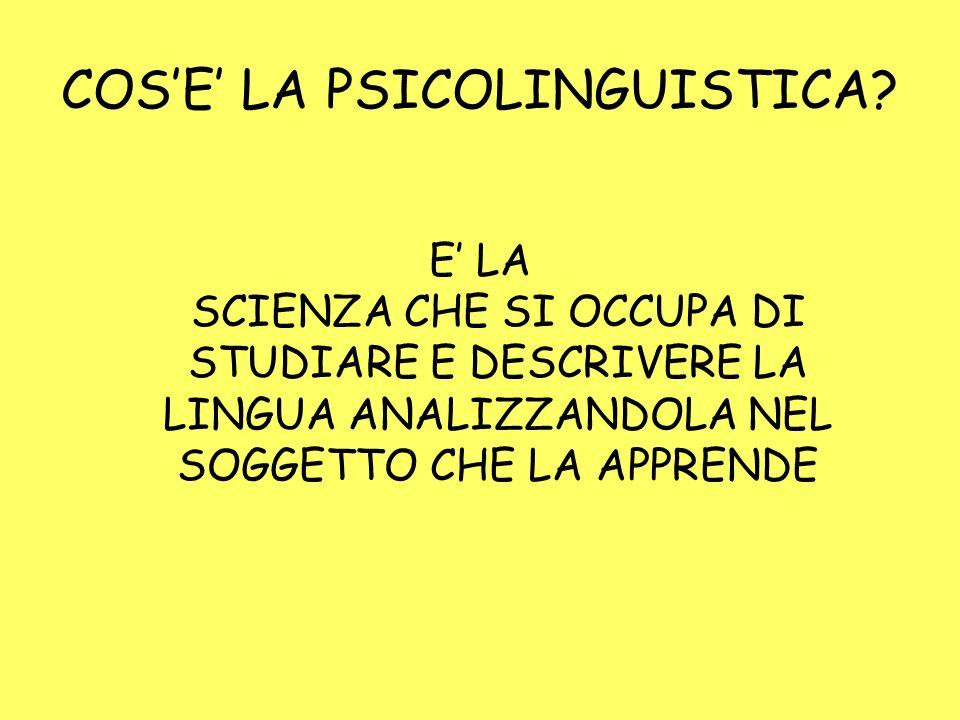 COSE LA PSICOLINGUISTICA.