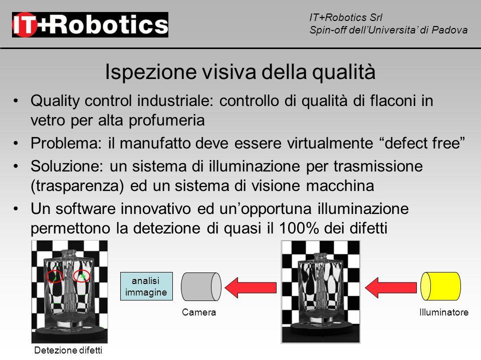 IT+Robotics Srl Spin-off dellUniversita di Padova Ispezione visiva della qualità Quality control industriale: controllo di qualità di flaconi in vetro