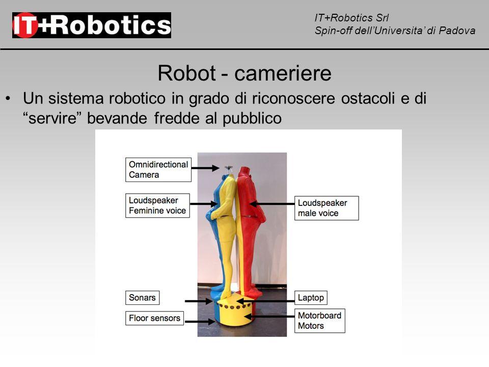 IT+Robotics Srl Spin-off dellUniversita di Padova Robot - cameriere Un sistema robotico in grado di riconoscere ostacoli e di servire bevande fredde a