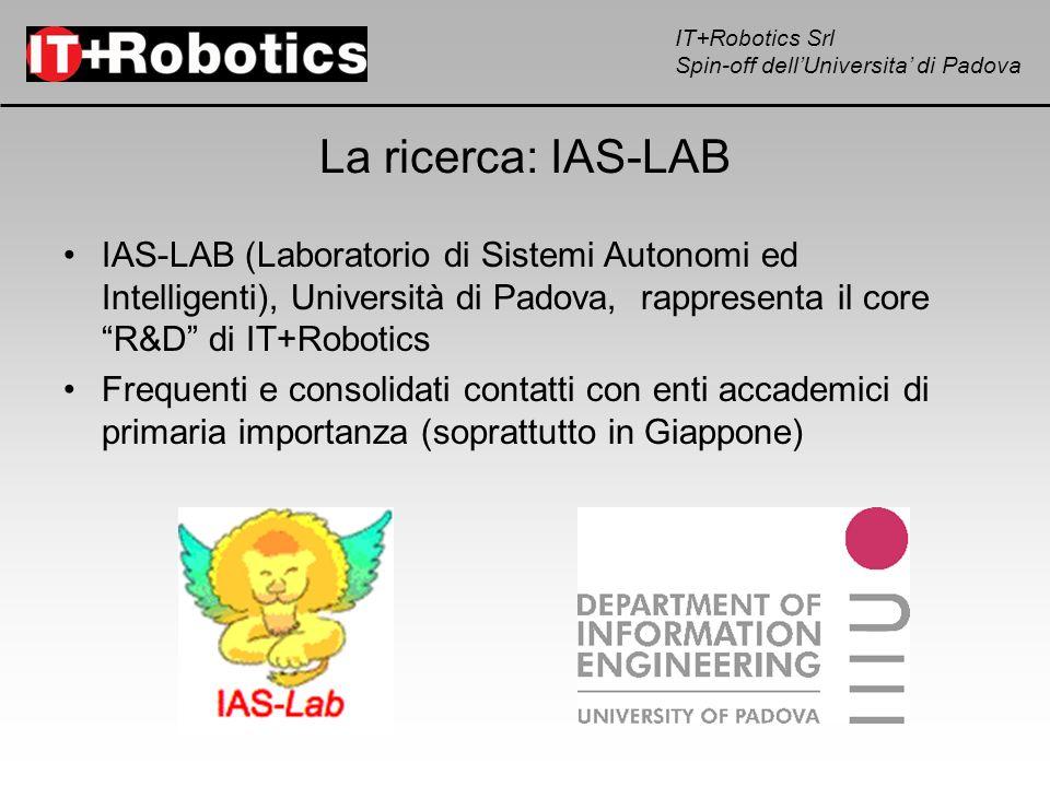 IT+Robotics Srl Spin-off dellUniversita di Padova La ricerca: IAS-LAB IAS-LAB (Laboratorio di Sistemi Autonomi ed Intelligenti), Università di Padova,