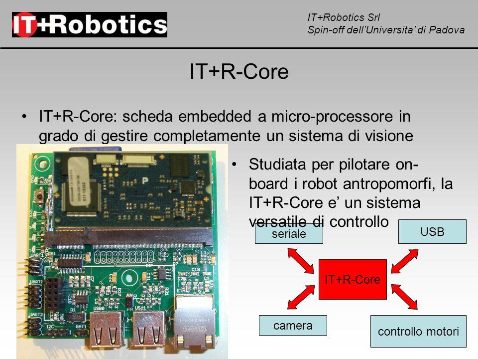 IT+Robotics Srl Spin-off dellUniversita di Padova IT+R-Core IT+R-Core: scheda embedded a micro-processore in grado di gestire completamente un sistema