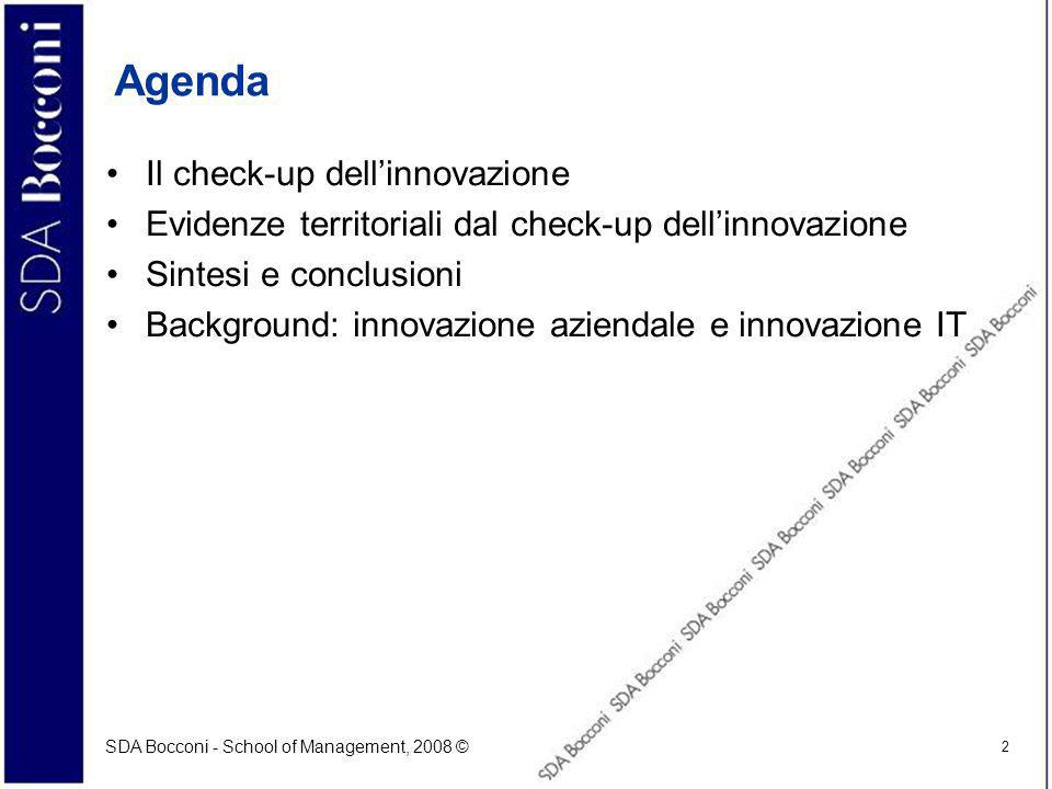 SDA Bocconi - School of Management, 2008 © 33 Alcune riflessioni preliminari (cont) Innovation is the process of turning ideas into manufacturable and marketable form… [Watts S.