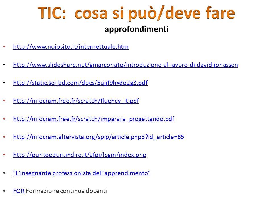 http://www.noiosito.it/internettuale.htm http://www.slideshare.net/gmarconato/introduzione-al-lavoro-di-david-jonassen http://static.scribd.com/docs/5