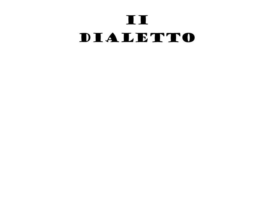 II dialetto