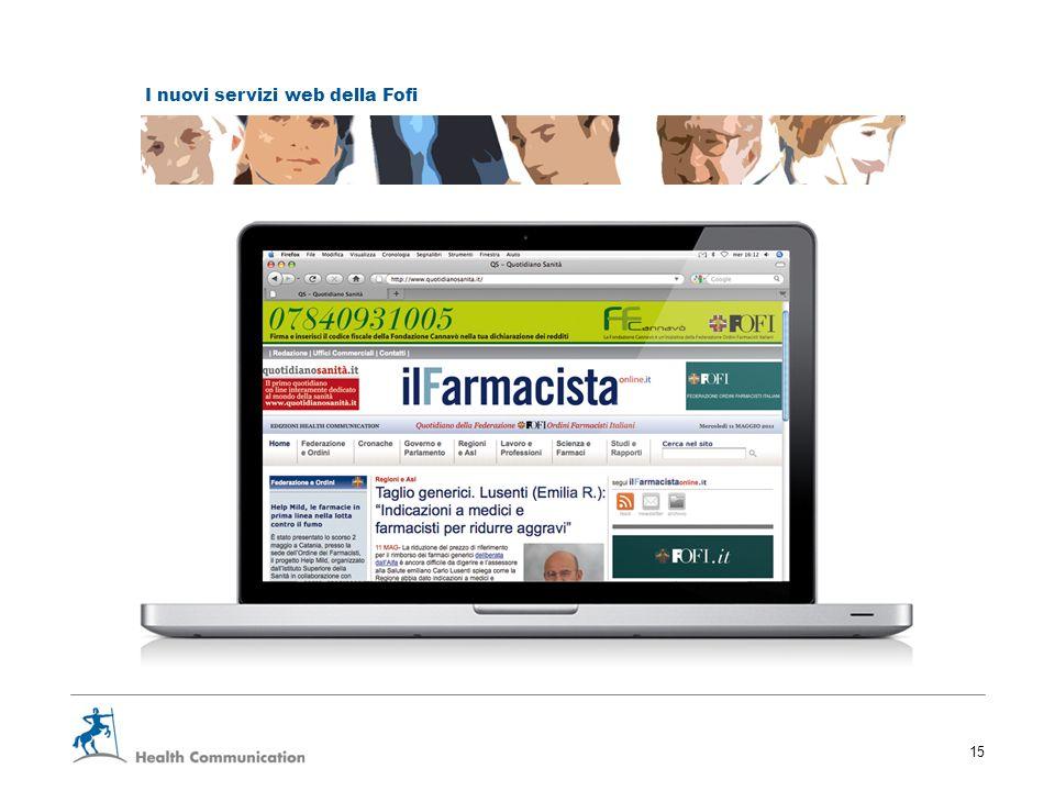 I nuovi servizi web della Fofi 15