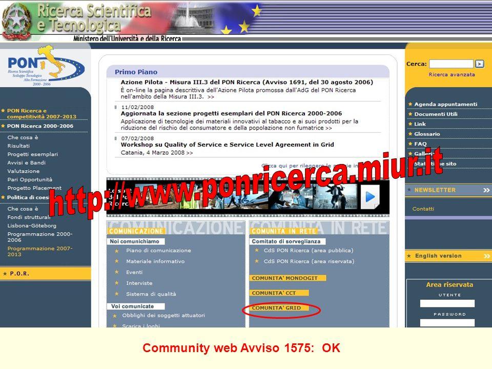 Community web Avviso 1575: OK
