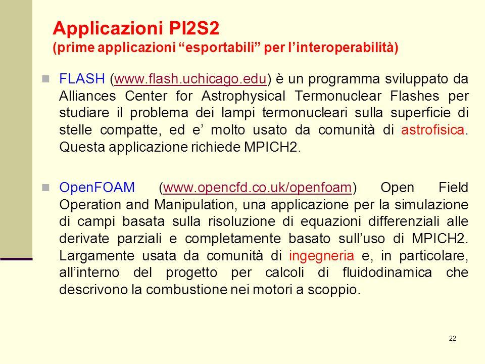 22 FLASH (www.flash.uchicago.edu) è un programma sviluppato da Alliances Center for Astrophysical Termonuclear Flashes per studiare il problema dei la