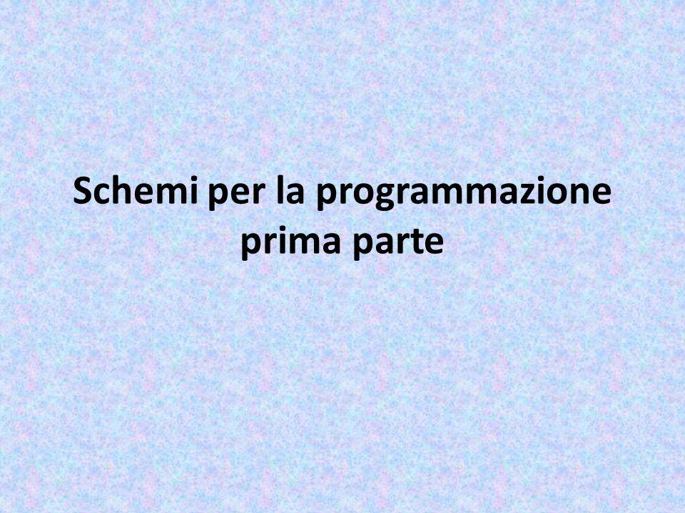 Schemi per la programmazione prima parte