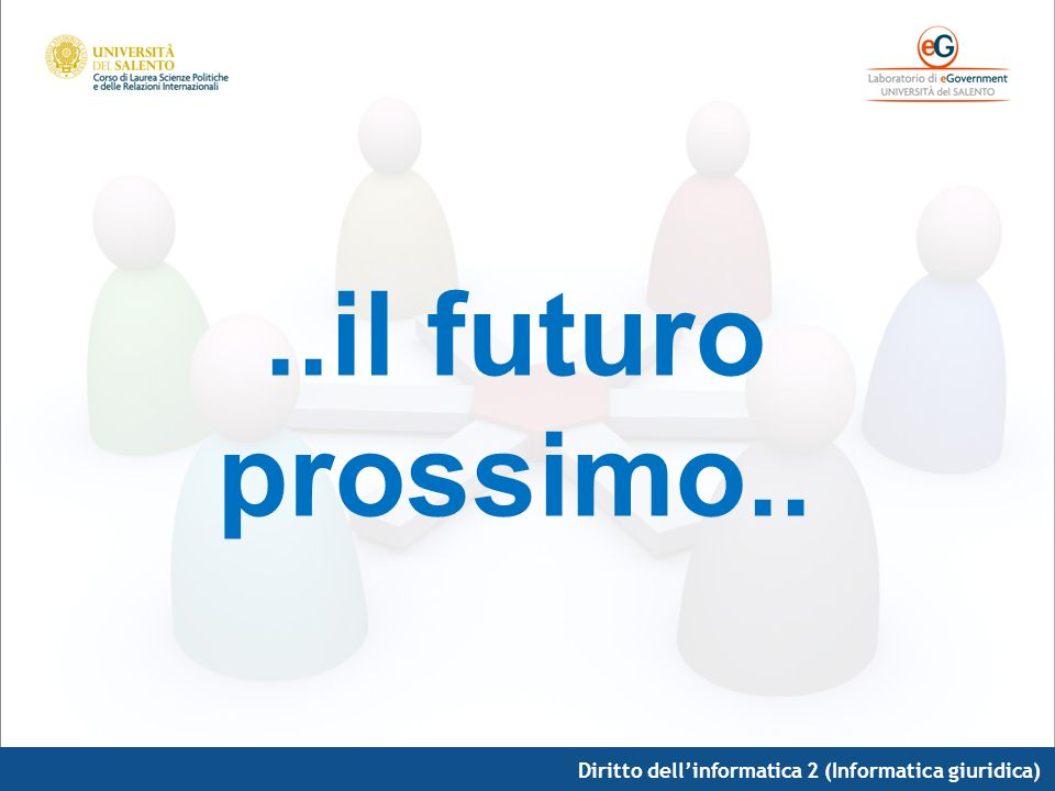 Diritto dellinformatica 2 (Informatica giuridica)..il futuro prossimo..