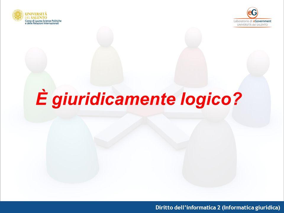 Diritto dellinformatica 2 (Informatica giuridica) È giuridicamente logico?