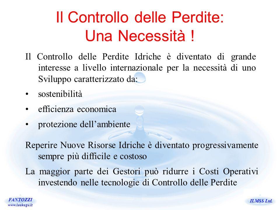 ILMSS Ltd.FANTOZZI www.leakage.it Il Controllo delle Perdite: Una Necessità .