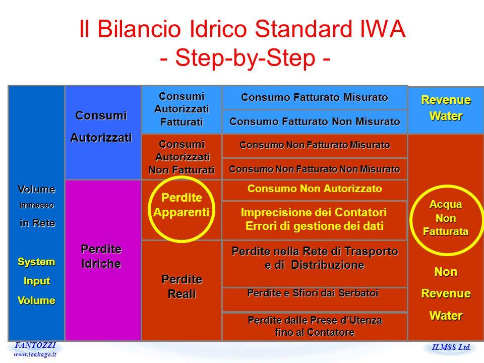 ILMSS Ltd. FANTOZZI www.leakage.it Il Bilancio Idrico Standard IWA - Step-by-Step - VolumeImmesso in Rete in ReteSystemInputVolume ConsumiAutorizzati