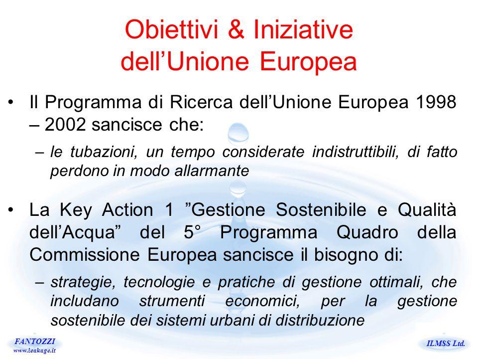 ILMSS Ltd. FANTOZZI www.leakage.it Obiettivi & Iniziative dellUnione Europea Il Programma di Ricerca dellUnione Europea 1998 – 2002 sancisce che: –le