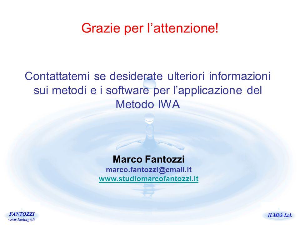 ILMSS Ltd. FANTOZZI www.leakage.it Grazie per lattenzione! Contattatemi se desiderate ulteriori informazioni sui metodi e i software per lapplicazione