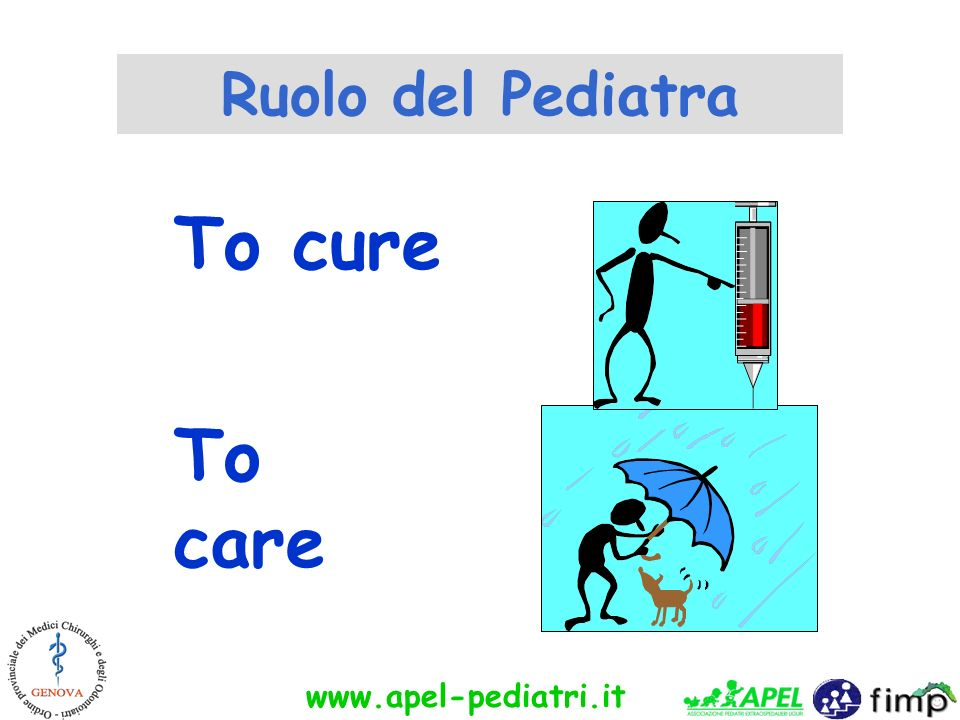 www.apel-pediatri.it To cure To care Ruolo del Pediatra
