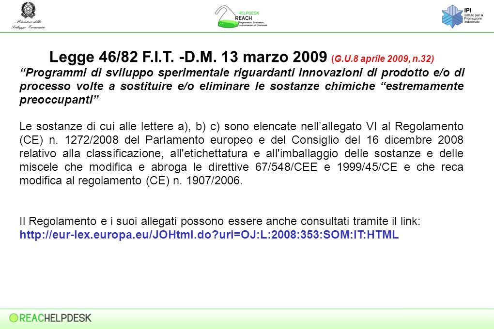 Legge 46/82 F.I.T.-D.M.