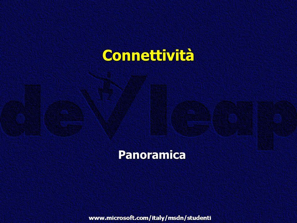 www.microsoft.com/italy/msdn/studenti Connettività Panoramica