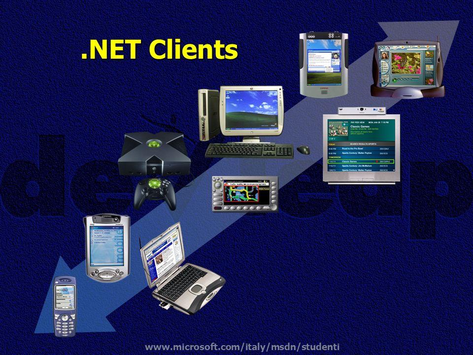 www.microsoft.com/italy/msdn/studenti.NET Clients