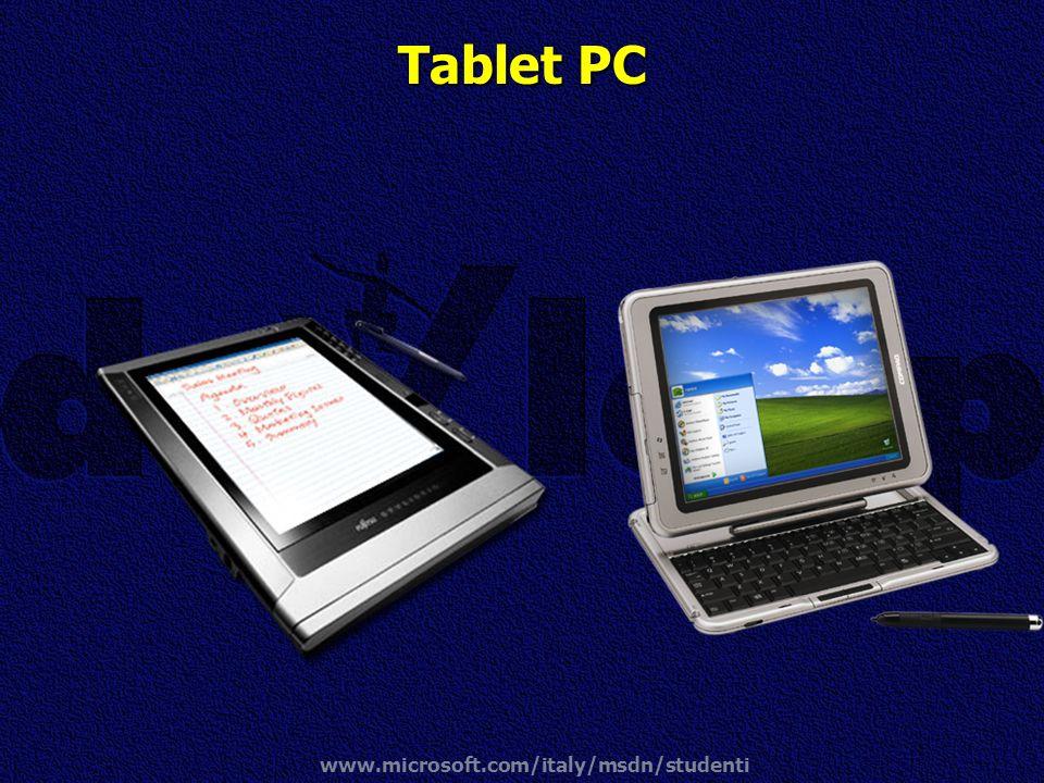www.microsoft.com/italy/msdn/studenti Tablet PC