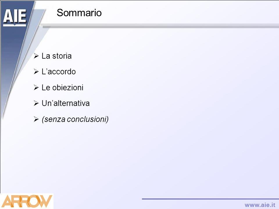 www.aie.it Sommario La storia Laccordo Le obiezioni Unalternativa (senza conclusioni)