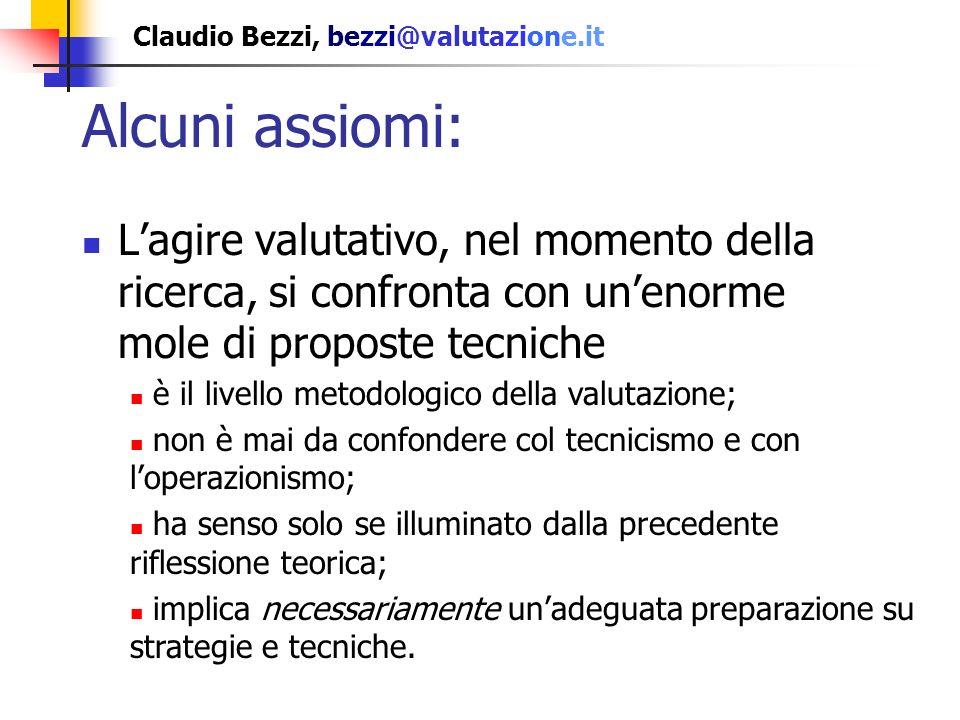 Claudio Bezzi, bezzi@valutazione.it I valutatori sono pronti.