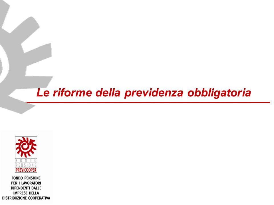 www.mefop.it Le riforme della previdenza obbligatoria